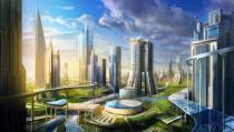 Работа и проживание в одном месте. Бизнес-проект новых городов в пригороде. Деловой мир, концепции прогрессивного развития, экономика, бизнес-проекты